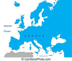 Political map of EuropePolitical map of Europe - Political...