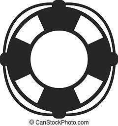 The lifebuoy icon Lifebelt symbol Flat Vector illustration
