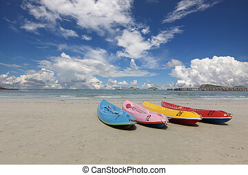 boats on the old beach