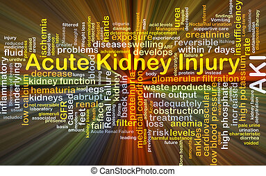 Acute kidney injury AKI background concept glowing -...