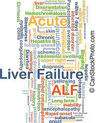 Acute liver failure ALF background concept - Background...