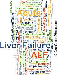 agudo, fígado, Fracasso, ALF, fundo, conceito,