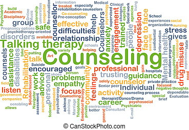 Counseling background concept - Background concept wordcloud...