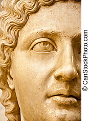 Staute Closeup Half - Close up of a statue of a woman in the...