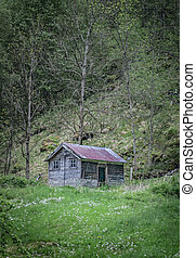 old shack in the hills shot