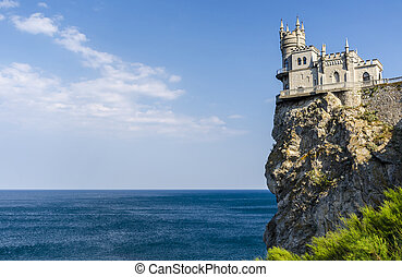 The well-known castle Swallow's Nest near Yalta. Crimea,...