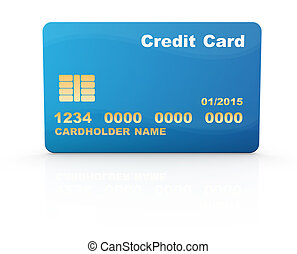 Credit card , This is a computer generated and 3d rendered...