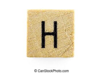 木制, 字母表, 塊, 信件,  H