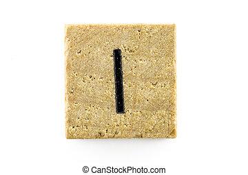 木制, 字母表, 塊, 信件