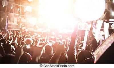 De-focused concert crowd,concert background.