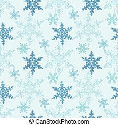 Hand-drawn doodles natural color snowflake seamless...