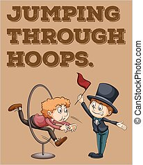Idiom - English idiom saying jumping through hoops