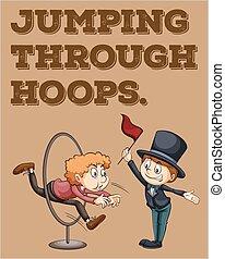 Idiom - English idiom saying jumping through hoops