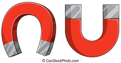 Magnet - U shape of magnet in red color