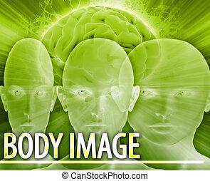 cuerpo, concepto, imagen, Ilustración,  digital, Extracto