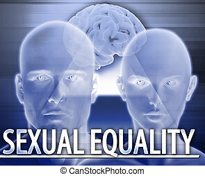 Sexual equality Abstract concept digital illustration -...