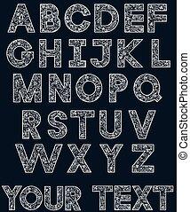 White alphabet 2