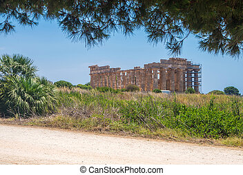 Temple E at Selinunte in Sicily is a greek temple of the doric order