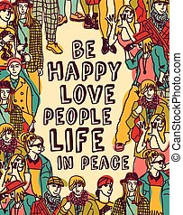 Love people positive emotion poster