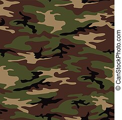 Army camouflage seamless pattern - Classic army camouflage...