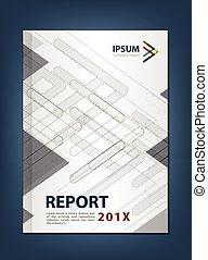 C, modernos, anual, cobertura, relatório, tema, desenho,...