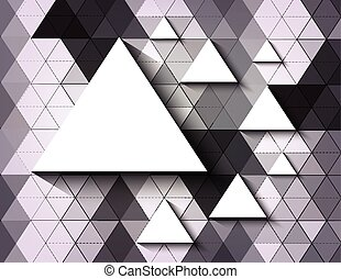 abstract vector background of triangle technology