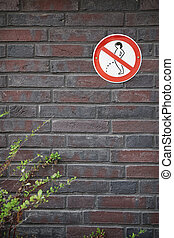 no peeing prohibition sign - prohibition sign forbidding...