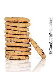 Chocolate Chip Cookies - Chocolate chip cookie stack...