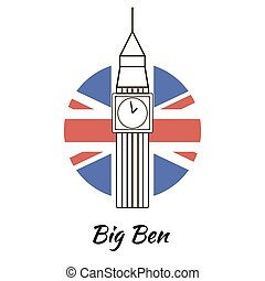 bigben - English famous sightseeing Big Ben. Branding...