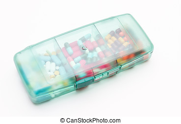Variety of medicines and drugs for decorate background...