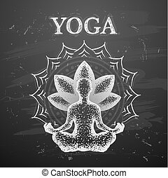 Vector illustration of yoga poses