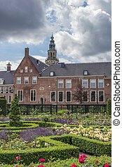 Garden of the Prinsenhof in Groningen, The Netherlands