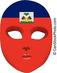 Haiti mask - Classic mask with symbols of statehood of Haiti...
