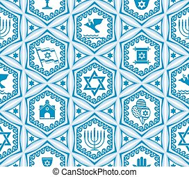 israel design seamless - vector seamless background with...