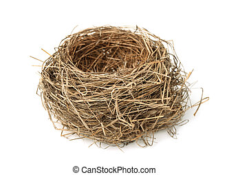 Bird nest - Empty bird nest isolated on white