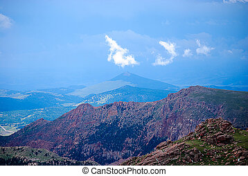 Pikes Peak - View from the top of Pikes Peak in Colorado...
