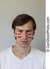 Displeased Danish sports fan - Displeased male sports fan...