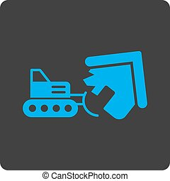 Demolition icon. Vector style is white and gray colors, flat...