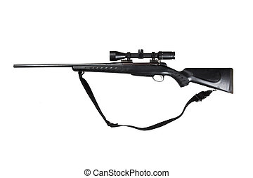 Hunting rifle isolated - 30-06 Springfield hunting riffle...