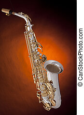 Saxophone Alto Silver Gold - A professional silver and gold...
