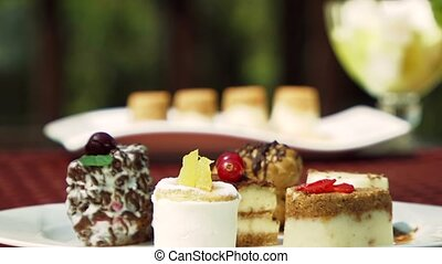 Cakes And Dessert On The Table