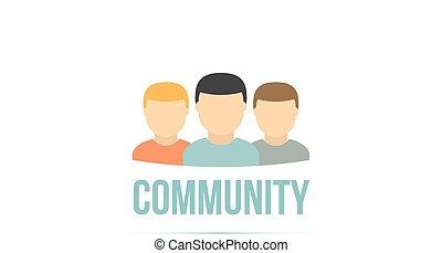 User icons. Community concept.