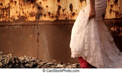 Bride Looked Rusty On The Wall