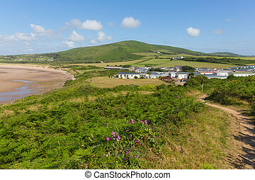 Wales coast path The Gower - Wales coast path Broughton Bay...