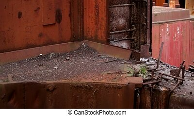 Rusted And Ruined Factory - Rusted and ruined factory Moving...