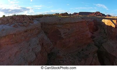 Glen Canyon at Sunset Aerial - Beautiful Glen Canyon Basin...