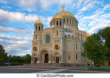 Orthodox cathedral in Kronstadt - Orthodox naval cathedral...
