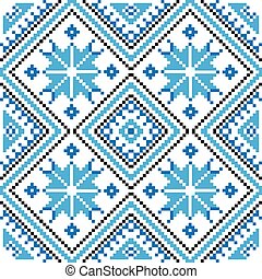 Ethnic ornament, seamless pattern. Vector illustration. From...
