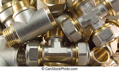 plumbing fittings - Many plumbing fittings Close-up