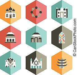 icon place of worship - all icons are designed in various...